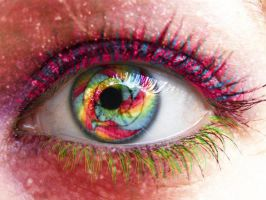 psychedelic candy eye by lilminx16