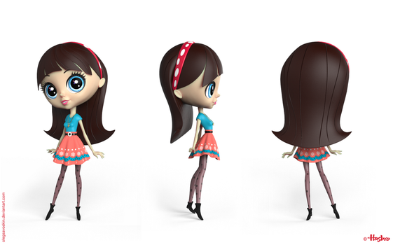Blythe 3D model by olegsavoskin