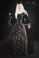 fantasy gothic renaissance gown by vampireleniore