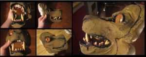 Beast mask progress omg by Anarchpeace