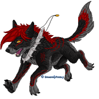 YCH Leaping Wolf by DragonsPixels