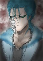 Grimmjow PORTRAIT  COLOUR 2011 by aku9