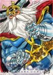 Thor: TDW Sketch Card - Odin 2 by DeJarnette