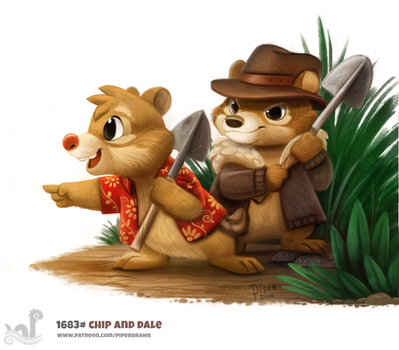 Daily Painting 1683# Chip and Dale by Cryptid-Creations