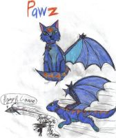 Jewel's Nightmaren cat, Pawz by werecatkid17