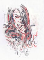 SKETCH RED AND BLACK 6 by javierGpacheco
