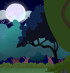 P2U Forest Background by RavenSongLullaby
