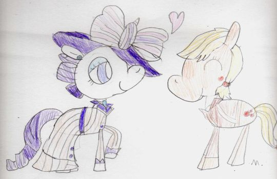 Rose-ity and Apple Jack by ptitemouette