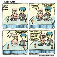 Komik Strip #3 - Kulit Ayam by DinoCacktus