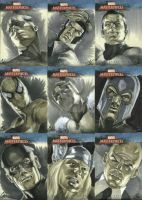 Marvel Masterpieces set 1 by gattadonna