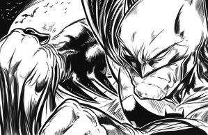 Batman Inks Comic Style by ElvinHernandez