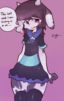 Moo Dress by CoffeeChicken
