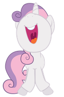 Illustrator Sweetie Belle by Fluttertroll