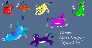 Theme Challenge 3: Sparkle! by BlackWolf1112-ADOPTS