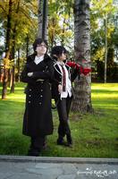 Okumura twins in park by signore-illusionista