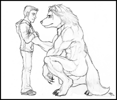 No Matter What - Lineart by lycanthropeful