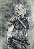 Witcher - Ciri finished by Hollow-Moon-Art