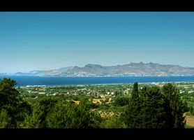 The Aegan Sea Panorama by Beezqp