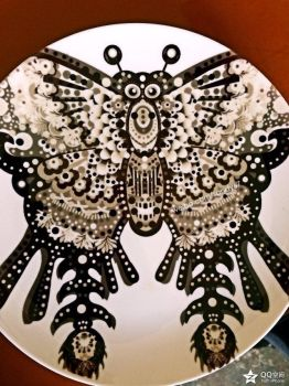My original design-dish-Painting-butterfly-67 by sandy67-Q