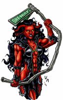Red She-Hulk: Colors by quibly