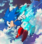 Classic Sonic in action! by Nerkin
