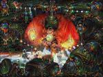 Deep Dream of the Pheonix by oyog
