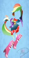 Minimalist Equestria Girls: Rainbow Dash by Because-Im-Pink
