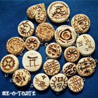 Faux Carved Ivory Charms by Me-O-Tojite