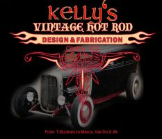 Kelly's Vintage Hot Rods logo by Blazing-Ace