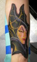Maleficent Tattoo. By Moots by CosmicDoom
