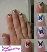 Sailor Moon Nail Art: part 2 by IndigoVelvet