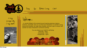 Web Design for yoga / biking website by colormecrazi