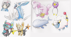 Paper Pokemon by spiffychicken