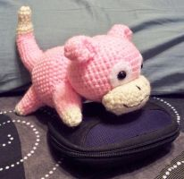 Slowpoke Amigurumi Plushie by Lunarchik13