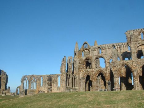 Side View of Whitby Abbey 2 by Panselinos