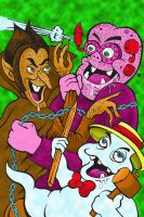 Chocula Vs Frankenberry by RossRadiation