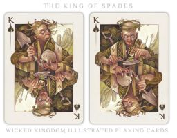 Card Art: The King of Spades by wylielise