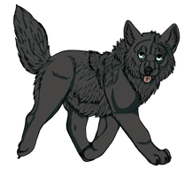 Chibi Wolf by Umbrafen