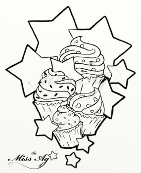 Cupcakestarslinework colorme by Miss-Ag