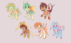 $5 Pony Adopts- 2/6 OPEN by Pi-xie