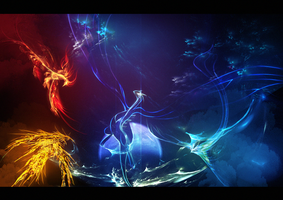 Fire, Ice and Lightning by Tuooneo