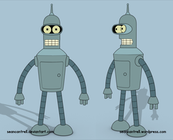 Futurama - Bender by seancantrell