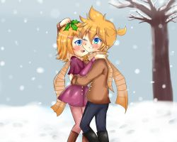 Contest entry- let's kiss under the mistletoe by BLEEDFan95