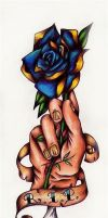 Severed Hand RIP flash by Nevermore-Ink