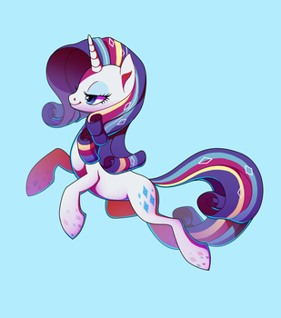 Rainbow Power Rarity by TrippinMars