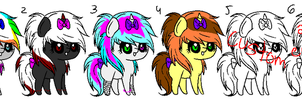 Scene Pony Adopts 3 c: CLOSED by Rainbow-ninja-adopts