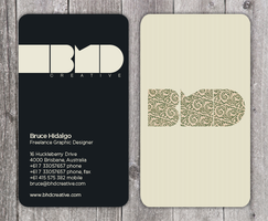 BHD Design business card by brucebah