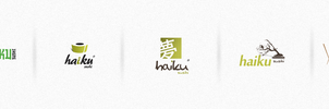 haiku sushi logotype by t3t5uo
