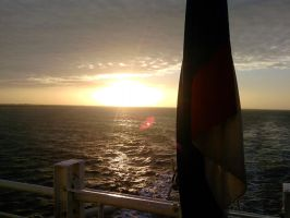 Sunrise onboard P O Ferry by alanhay