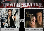 Death Battle: Malcolm Reynolds vs Han Solo by SpikeJet2736